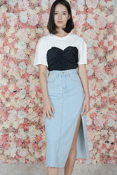 Asher Denim Skirt in Blue - Online Exclusive
