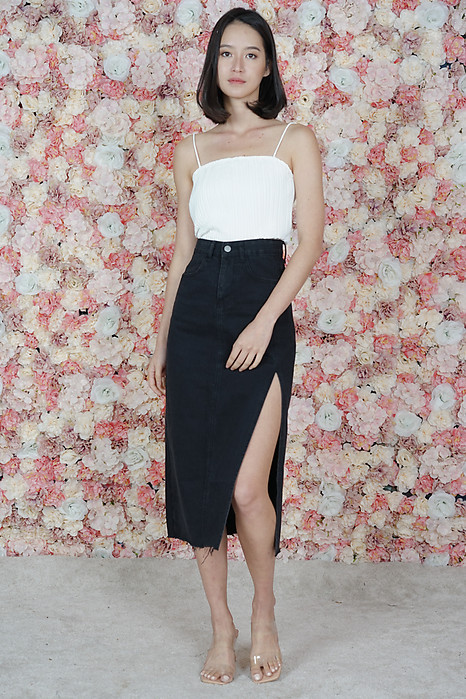 Asher Denim Skirt in Black - Online Exclusive