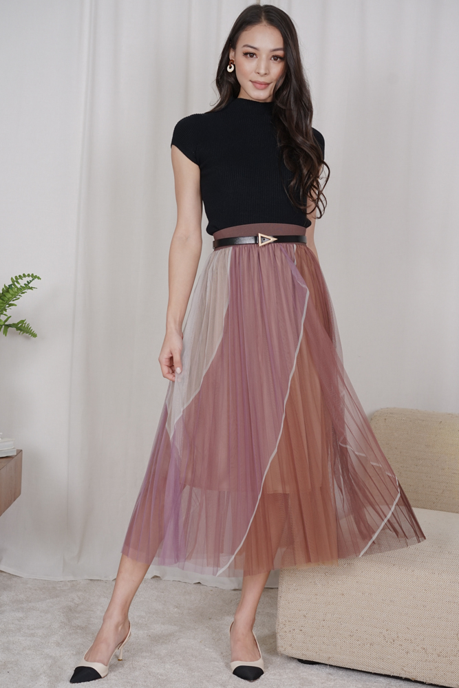 Bonisa Tulle Skirt in Purple - Online Exclusive