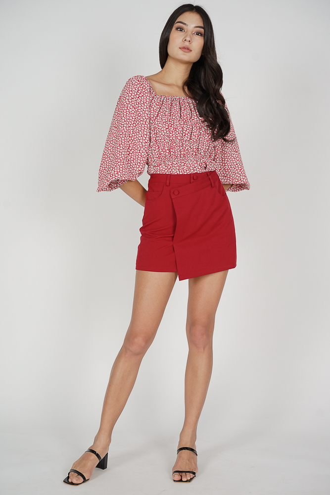 Kyoka Puffy Top in Red