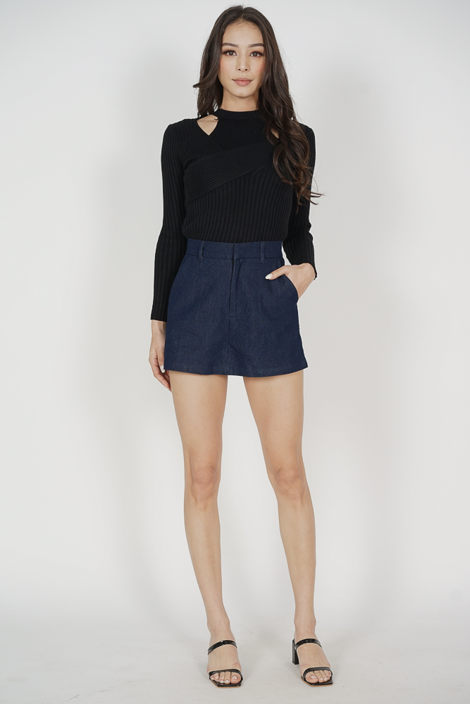 Millard Skorts in Blue Denim - Arriving Soon