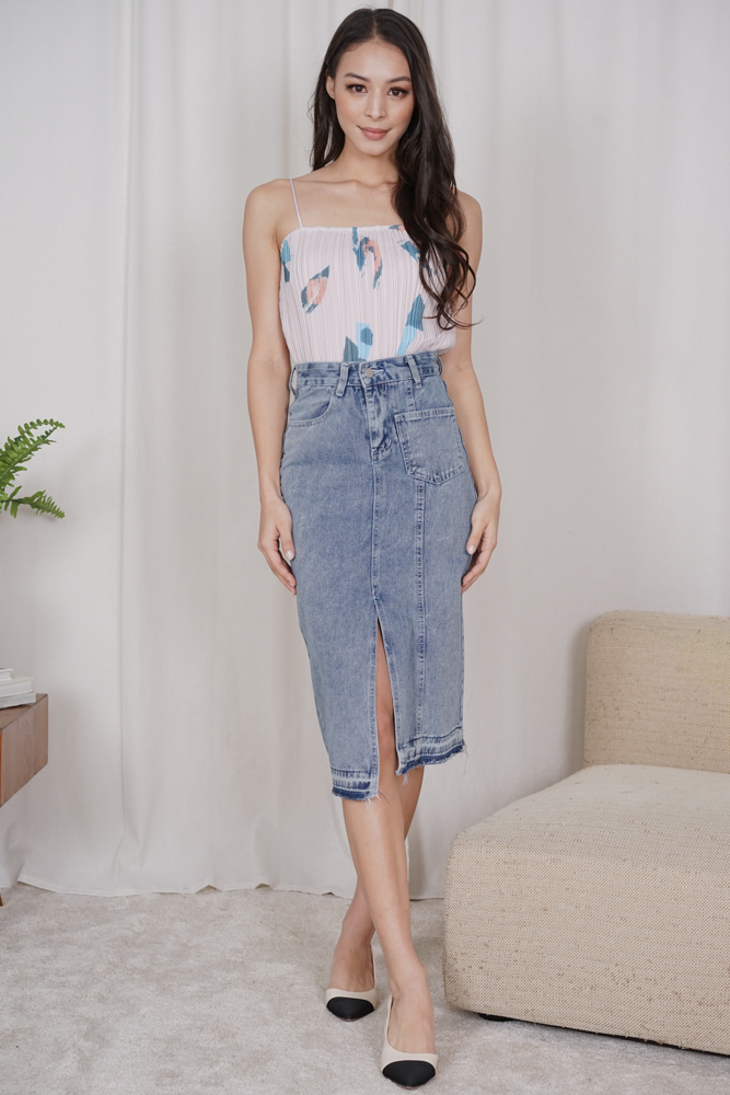 Triza Denim Skirt in Blue - Online Exclusive