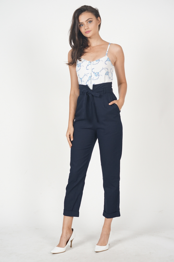 617606762ab Aster Cami Jumpsuit in Blue Floral