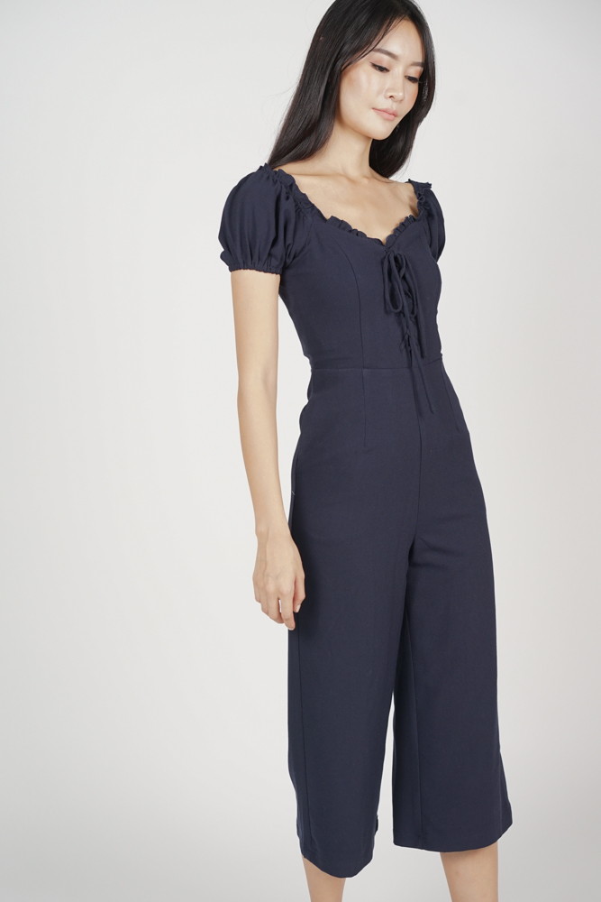 eb941ab0aa16 Kalila Puffy Jumpsuit in Midnight - Arriving Soon