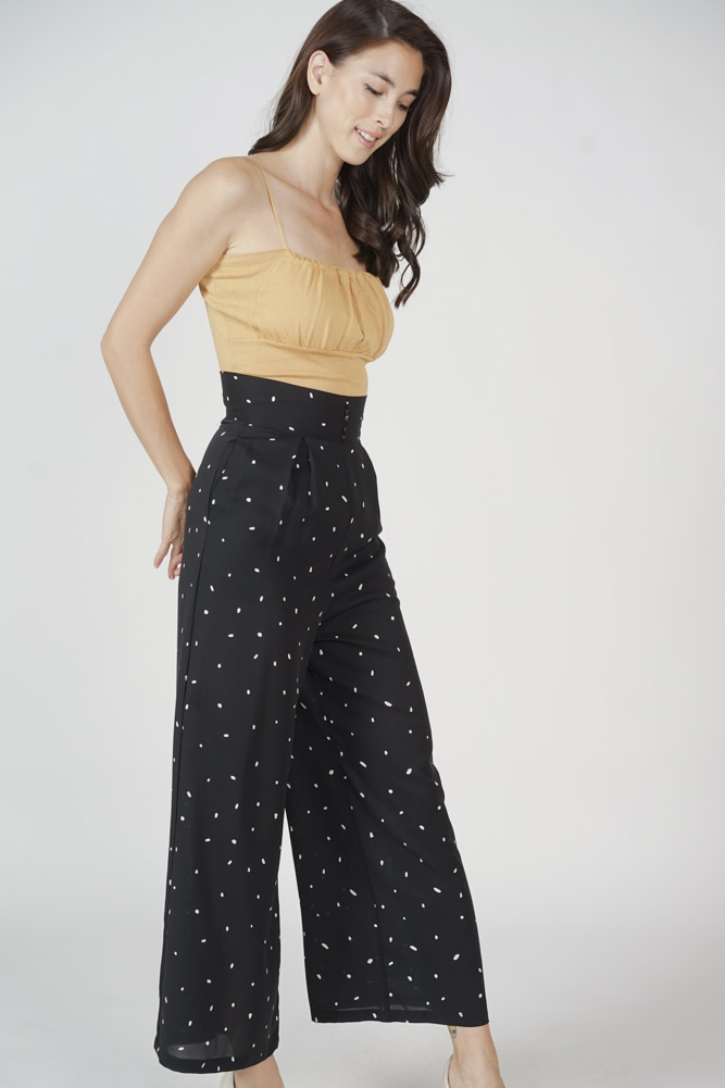 Haini Wide-Leg Pants in Black - Arriving Soon