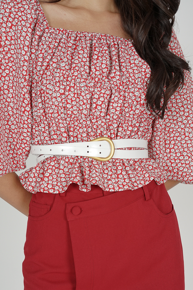 Orfia Belt in White