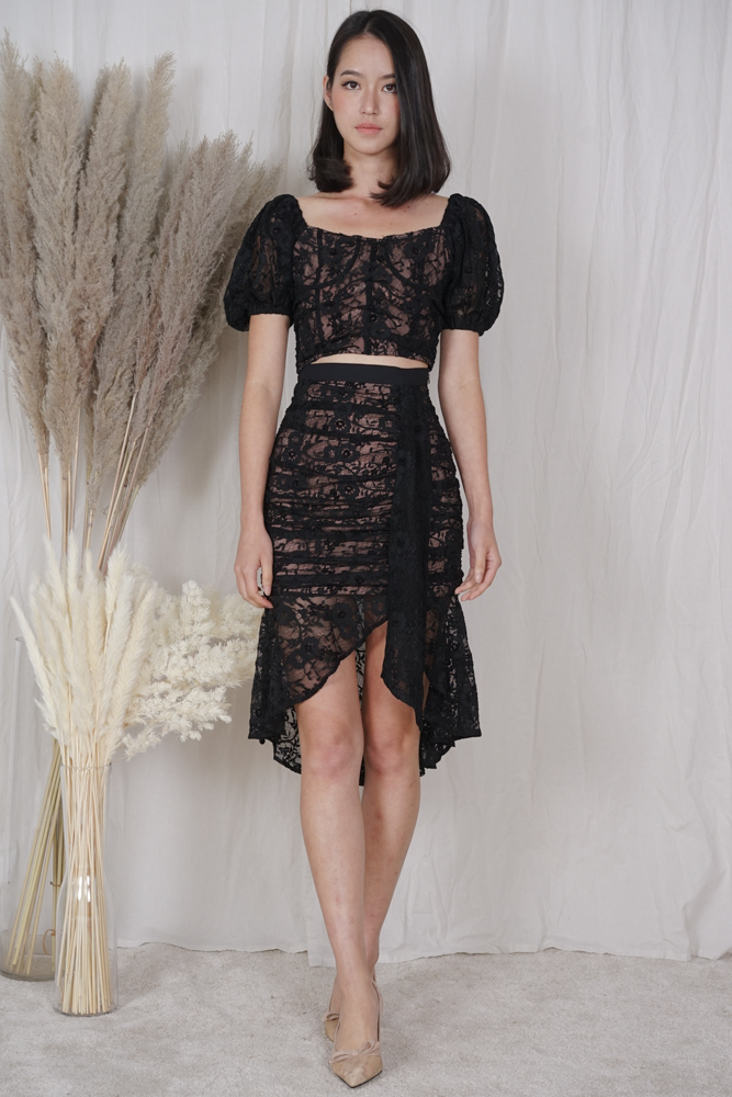 Armin Lace Top in Black - Arriving Soon