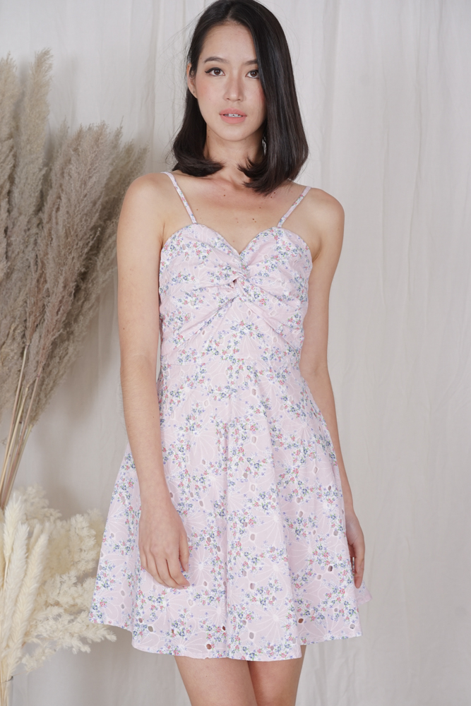 Beicka Gathered Dress in Pink Floral - Arriving Soon