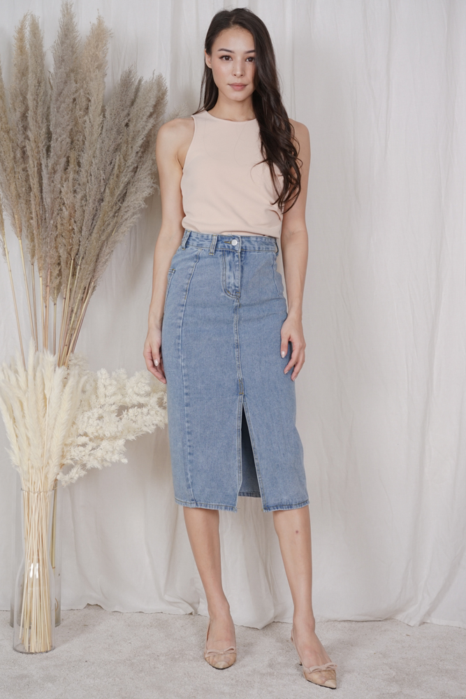 Rosse Denim Skirt in Blue - Online Exclusive
