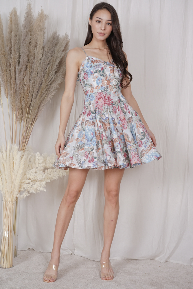 Marisa Flared Dress in Multi Floral - Arriving Soon