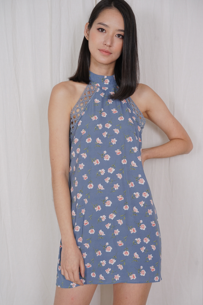 Marcy Dress Romper in Dusty Blue - Arriving Soon