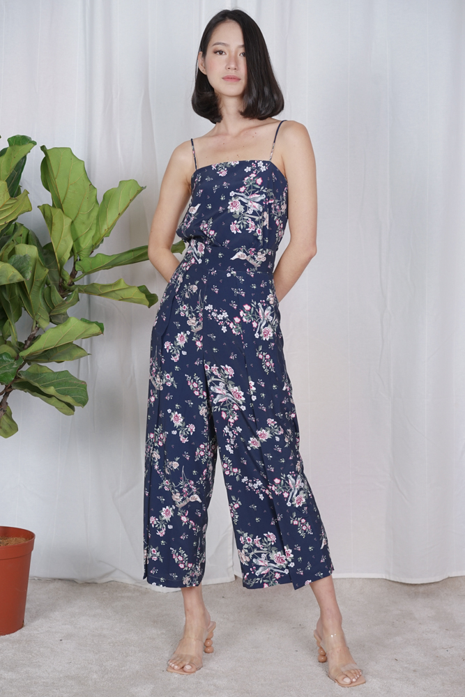 Aimer Wide Leg Culottes in Navy Floral - Arriving Soon