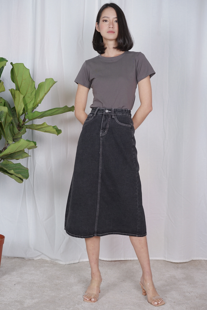 Nurma Denim Skirt in Black - Online Exclusive